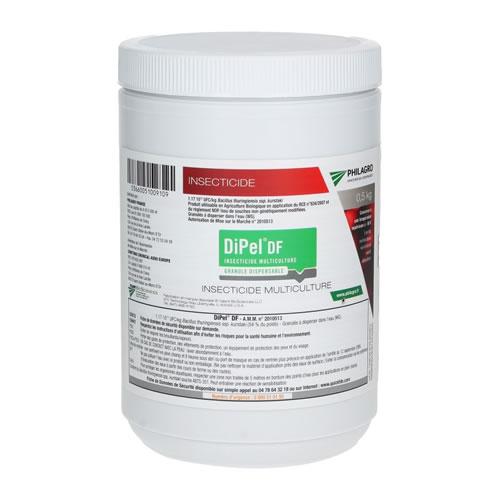 Insecticide BTk biologique, Dipel DF - Pot de 500g
